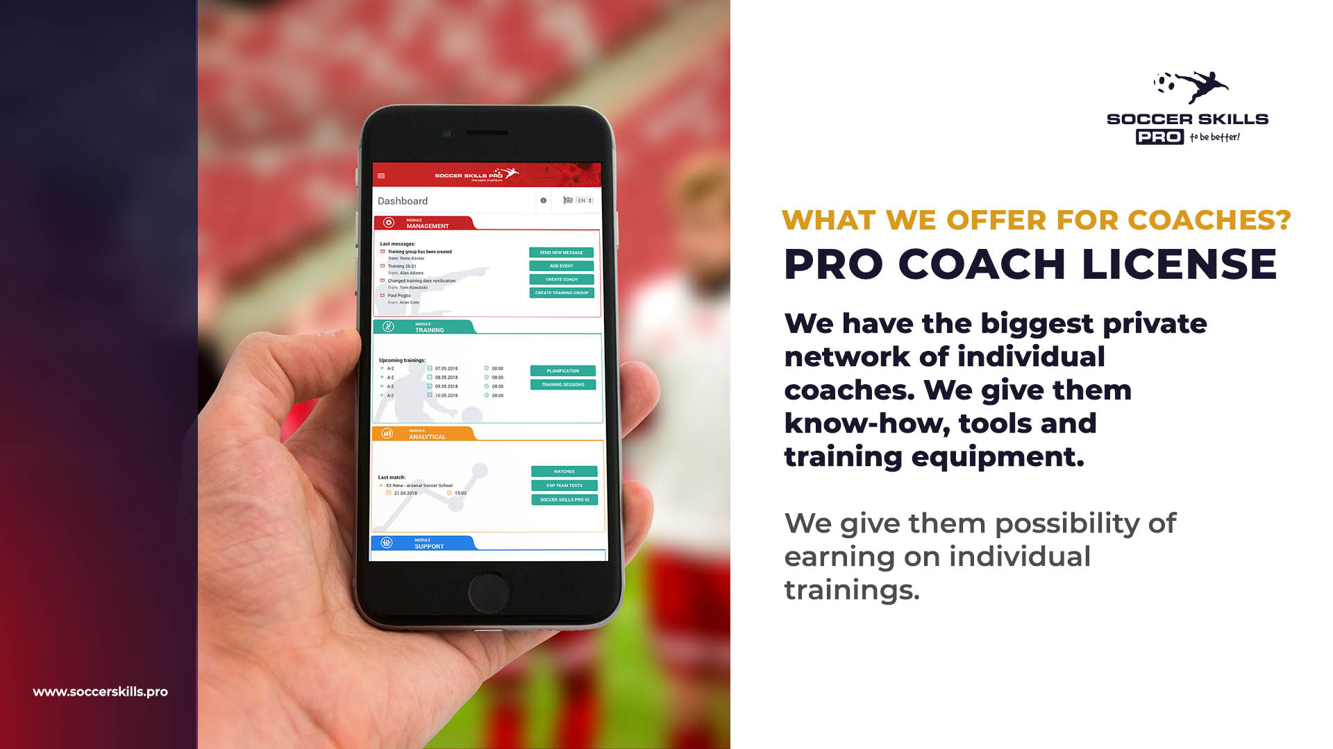 Soccer Skills PRO coach license